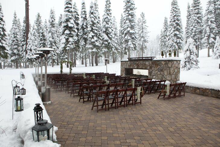 Snowy Outdoor Ceremony Site