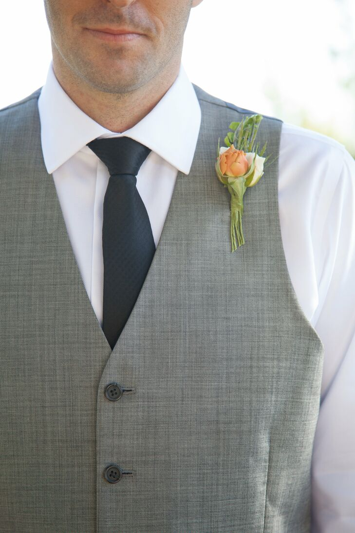 Simple Orange Boutonniere
