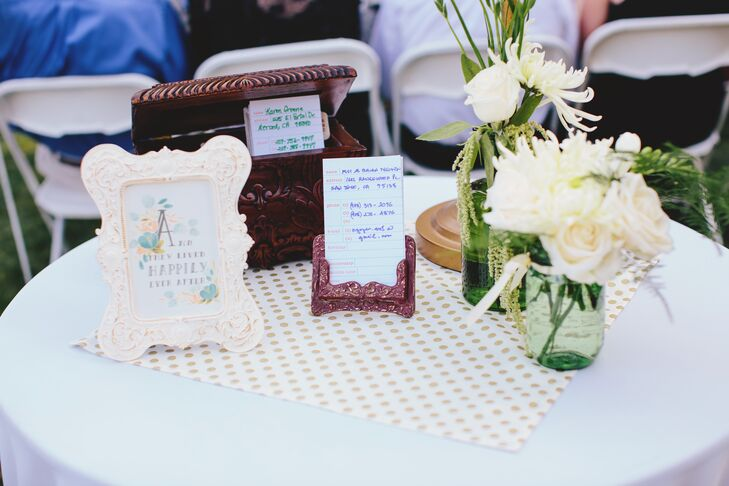 Guest Attendance Cards and Box