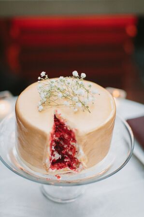One-Tier Red Velvet Wedding Cake