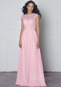 CocoMelody Bridesmaid Dresses LOZF1503E Illusion Bridesmaid Dress