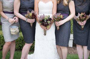 Rustic Succulent Bridal Bouquet