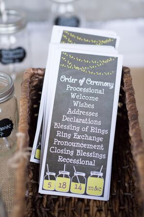 Gray and Yellow Wedding Programs
