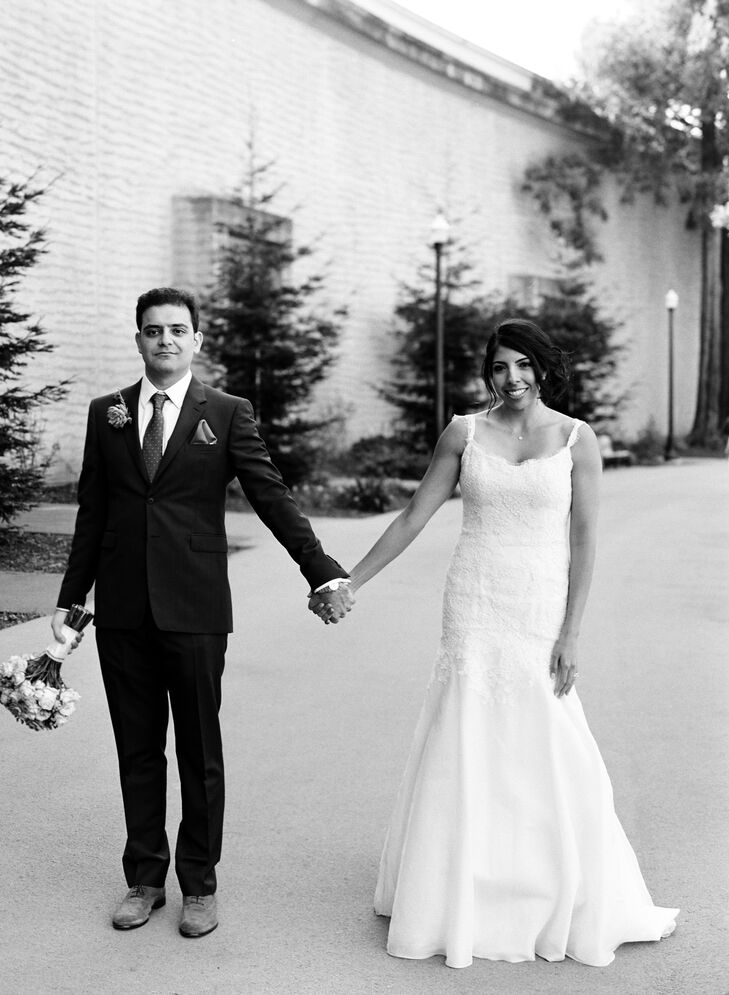 The Couple Holding Hands Before the Ceremony