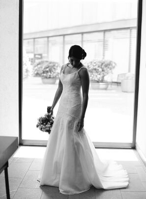 The Bride Posing in her Gown