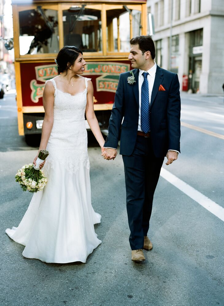 The Bride and Groom with their Trolley