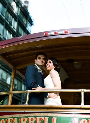 Riding the Trolley to the Reception