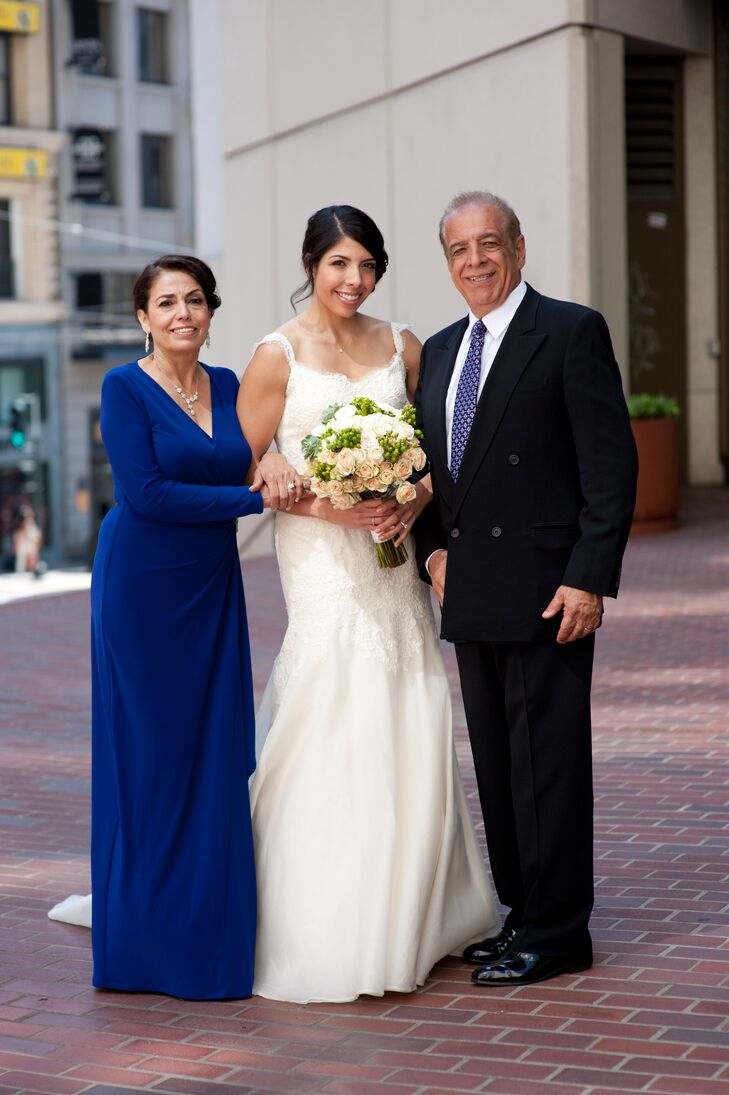 The Bride with her Parents