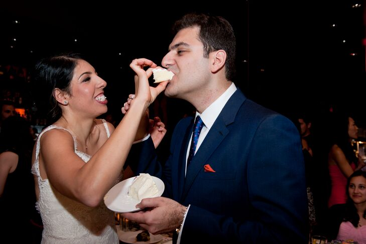The bride and groom showed off their fun personalities while sharing slices of the cake with one another. The fun continued well into the reception with a photo booth and hours of dancing.
