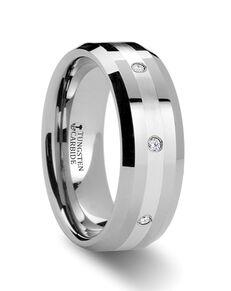 Mens Tungsten Wedding Bands W314-BTDWB Tungsten Wedding Ring