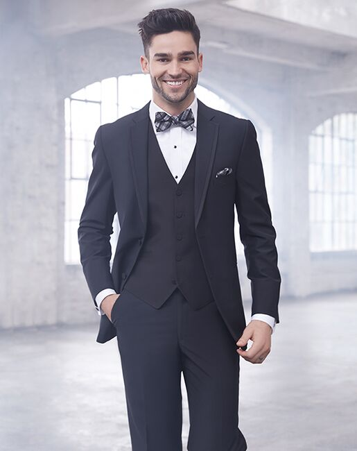 Allure Men Ultra Black Black Tuxedo