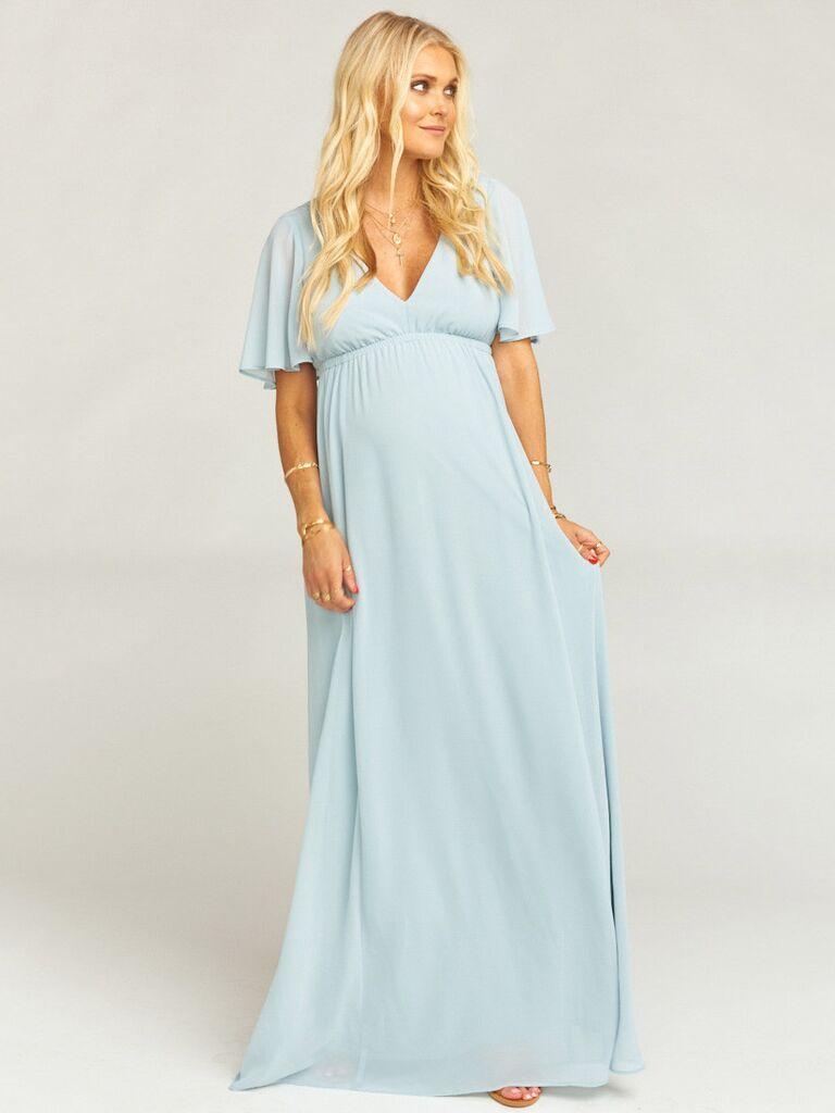 06b616344e6a8 Show Me Your Mumu Emily maxi dress light blue bridesmaid dress