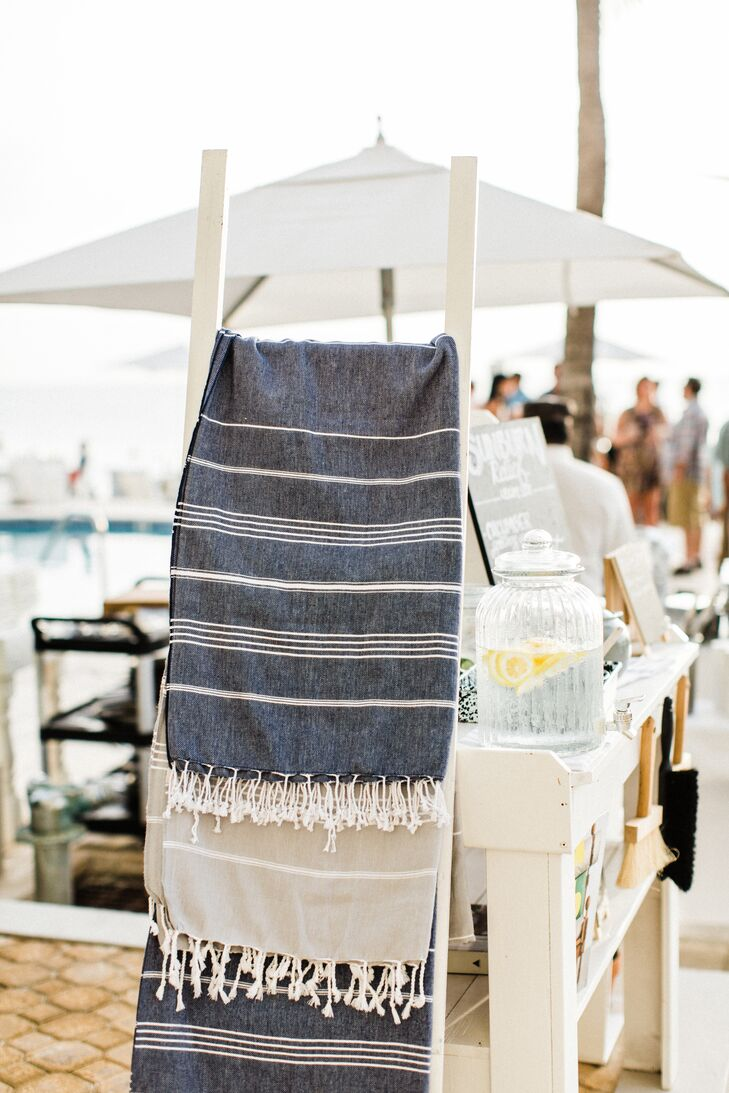 Striped Linen Blankets
