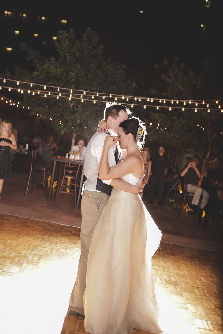 """The couple's first dance was to Spiritualized's """"Ladies and Gentlemen We Are Floating in Space."""""""