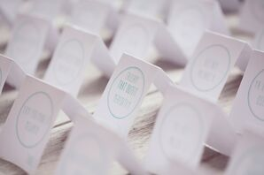Custom Mint Motif Escort Cards