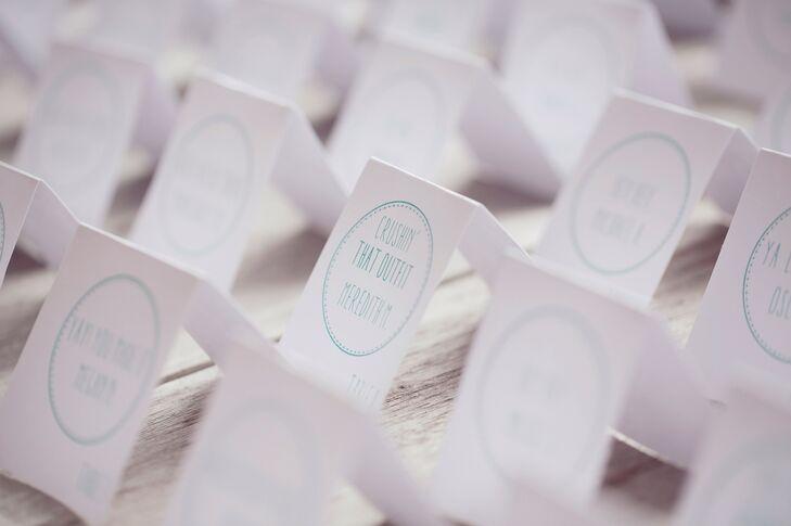 Custom Mint Motif Escort Cards
