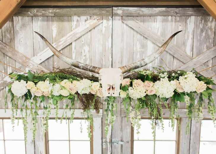 Flower Installation with Antlers