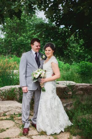 Vintage-Inspired Bride and Groom Look