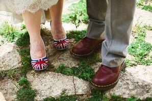 Union Jack Print Heels
