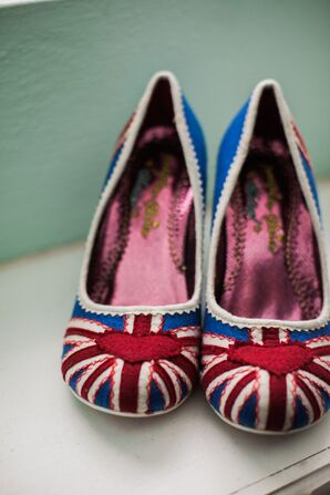 Red and Blue Union Jack Shoes