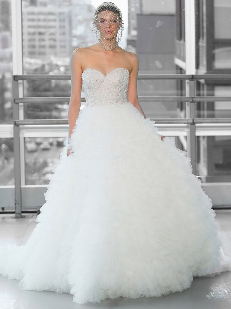 Justin Alexander Signature Wedding Dresses ruffled tulle ball gown