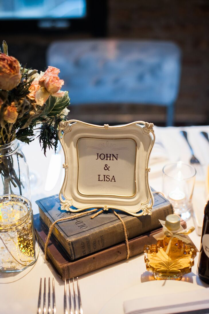 Vintage Book Centerpiece