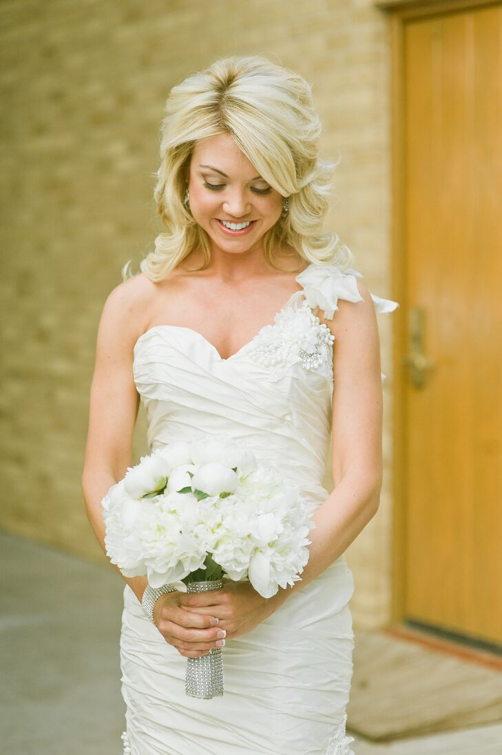 A Natural Bridal Look,Sparkle Glitter Tulle Wedding Dress