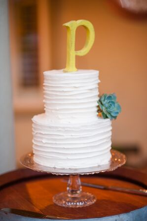 Ivory Cake With Yellow Topper