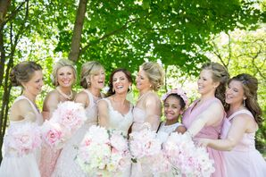 Blush Mismatched Bridesmaid Dresses