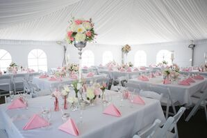 Blush and White Tent Reception at Stony Creek Metropark