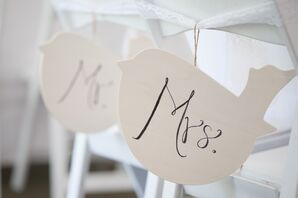 DIY Mr. and Mrs. Chair Tags
