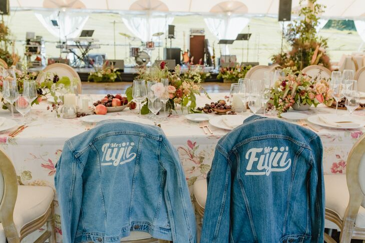 Personalized Bride and Groom Jean Jackets