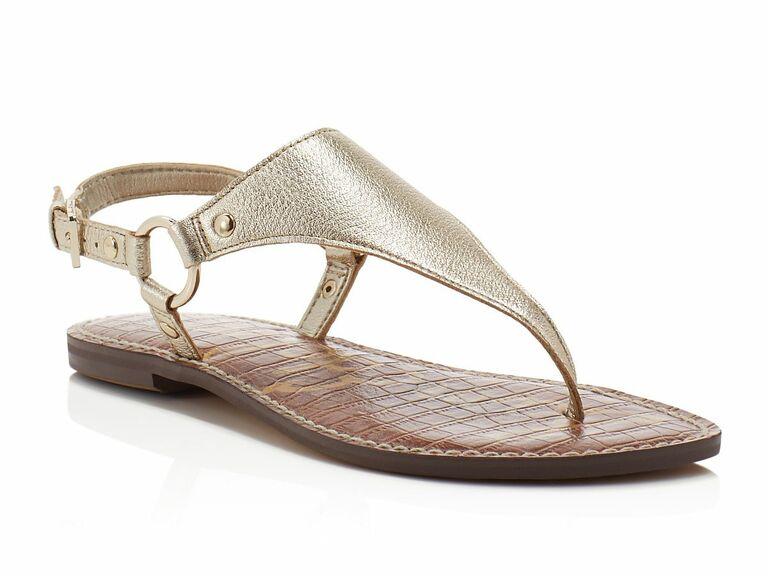  Sam Edelman Greta metallic Thong Sandals