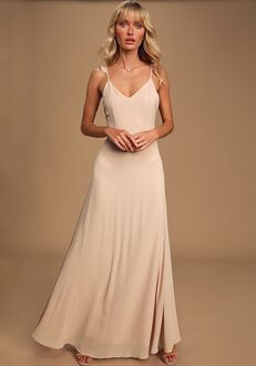 Lulus Meteoric Rise Blush Maxi Dress V-Neck Bridesmaid Dress