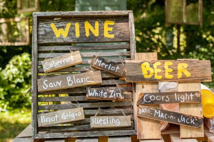 Wine and Beer Wooden Signs