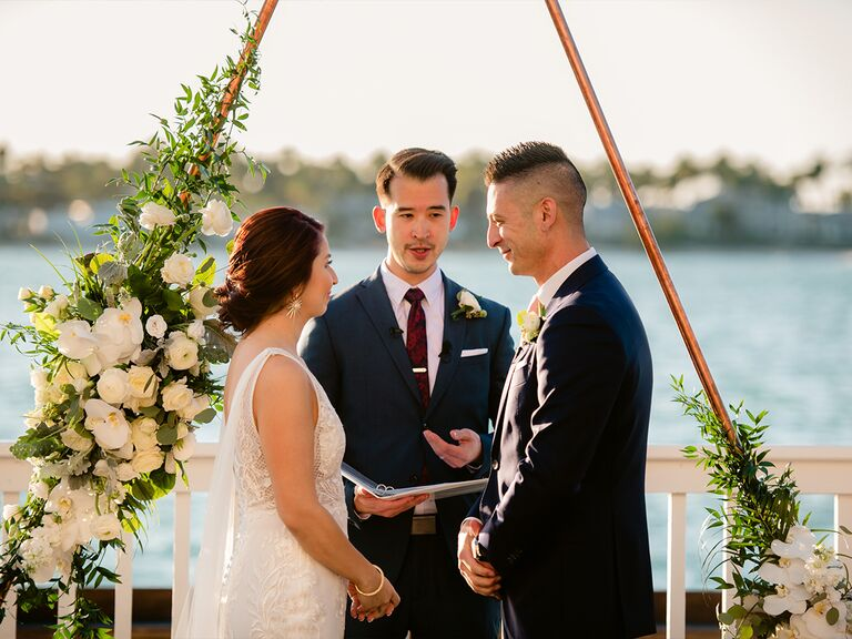 couple getting married at Ocean Key Resort and Spa in Key West, Florida