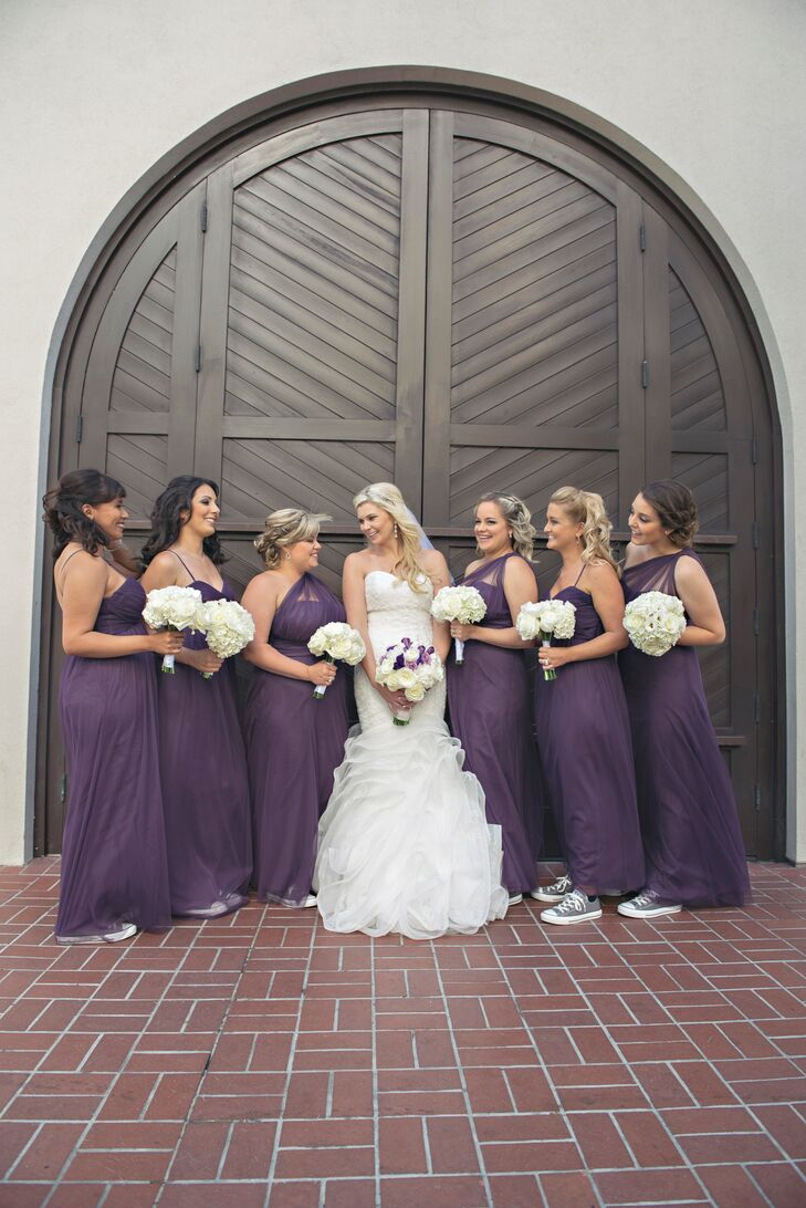 White Bridesmaid Dresses with Converse