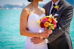 Bright Neon Colorful Bridal Bouquet