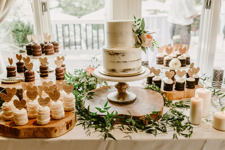 Naked Wedding Cake and Mini Cake Stacks