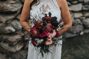 Dramatic Burgundy and Dark Purple Bouquet
