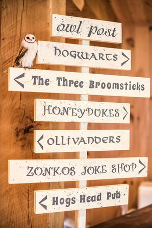 Harry Potter–Themed Directional Sign