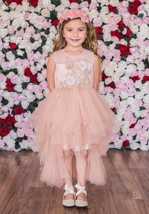 Kid's Dream C203 Ivory,Pink Flower Girl Dress