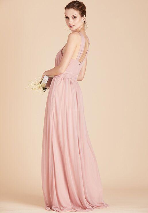 Birdy Grey Kiko Mesh Dress in Rose Quartz Halter Bridesmaid Dress