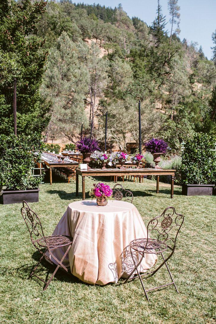Rustic Elegant Ranch Reception at Calistoga Ranch