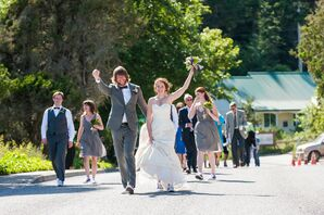 Bride and Groom Recessional To Reception
