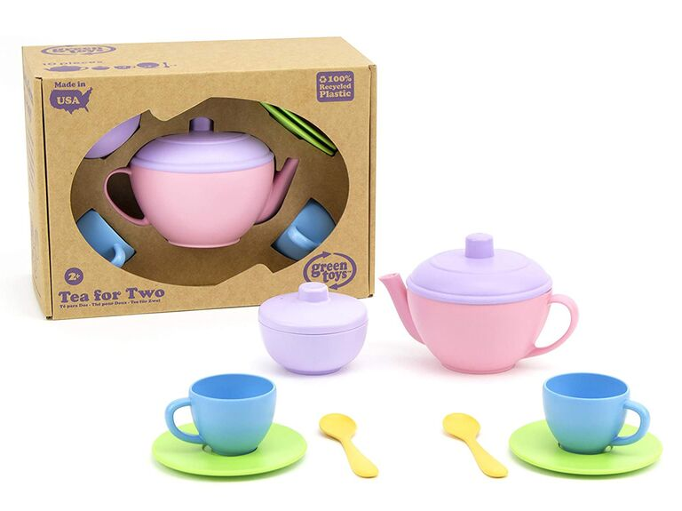 Sustainable tea set flower girl gift