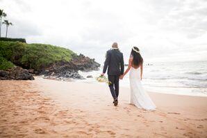 Romantic Boho Beach Wedding in Hawaii