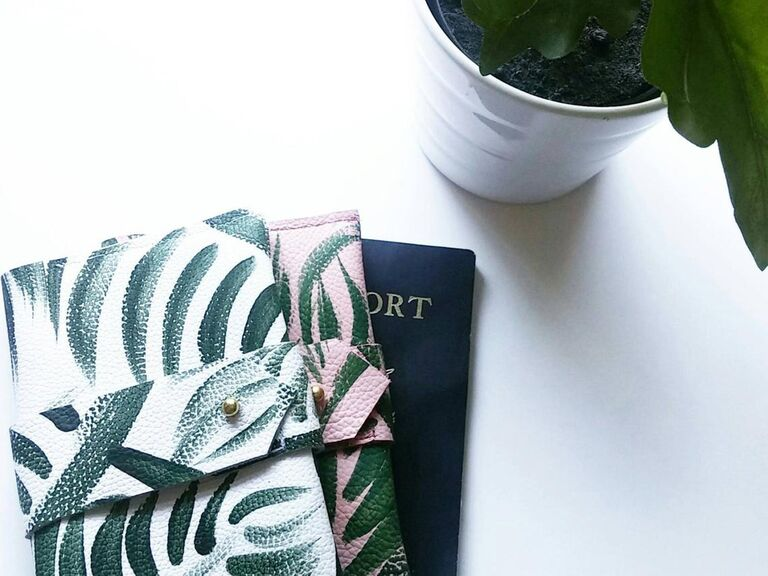 Passport cover wedding gift for bride