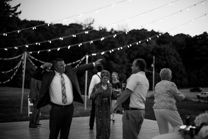When it came time for late night dancing, the music used was a playlist comprised of the song requests sent in from guests on their RSVPs. The bride and groom had a great time watching people run onto the dance floor when their song came on.