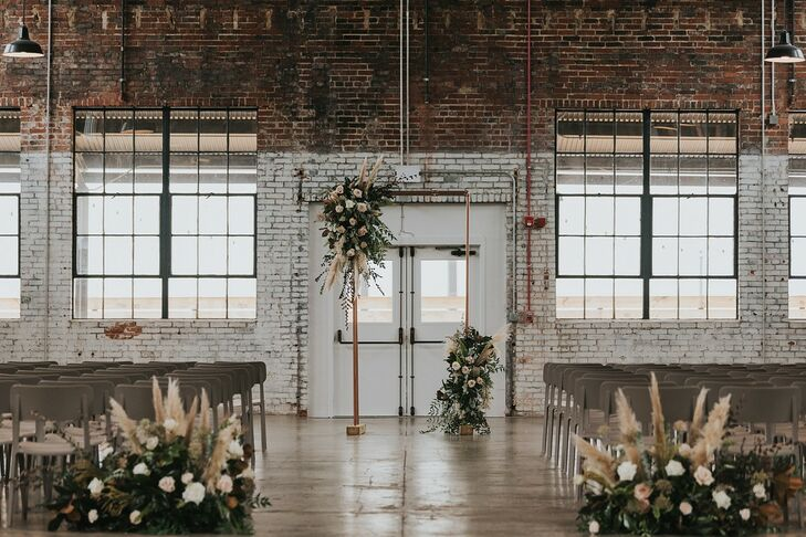 Industrial Warehouse Ceremony at The Theodore in Birmingham, Alabama